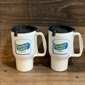 Vintage Southern Country Bread Logo Travel Mugs